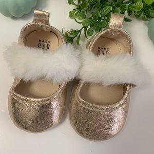 Baby Gap Gold Baby Shoes